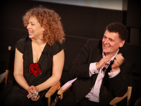 Alex Kingston with Steven Moffat