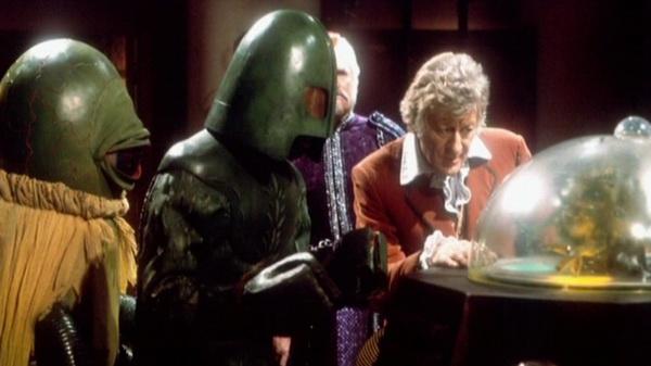 Alpha Centauri, Ice Warrior e o 3º Doutor em The Curse of Peladon